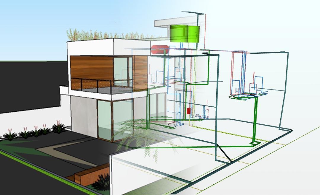 Fabuloso Projeto Residencial Unifamiliar - Galeria de Projetos AltoQi TF03